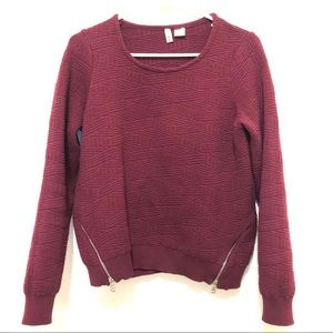 Anthropologie Moth Women's Maroon Sweater Small